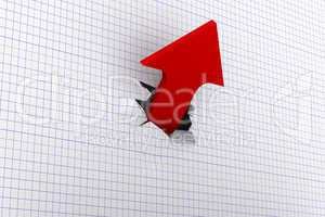 Growth red arrow