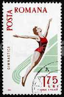 Postage stamp Romania 1965 Woman Diver, Spartacist Games