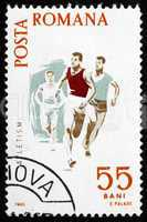 Postage stamp Romania 1965 Running, Spartacist Games