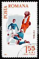 Postage stamp Romania 1965 Soccer, Spartacist Games