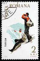 Postage stamp Romania 1965 Mountaineering, Spartacist Games