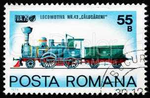 Postage stamp Romania 1979 Locomotive Nr.43 Calugareni