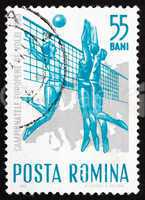 Postage stamp Romania 1963 Women Playing Volleyball