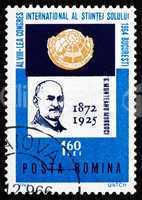 Postage stamp Romania 1964 Munteanu Murgoci, Geologist