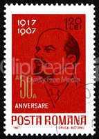 Postage stamp Romania 1962 Vladimir Illyich Lenin, Communist, Po
