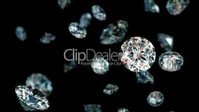 slowly falling diamonds