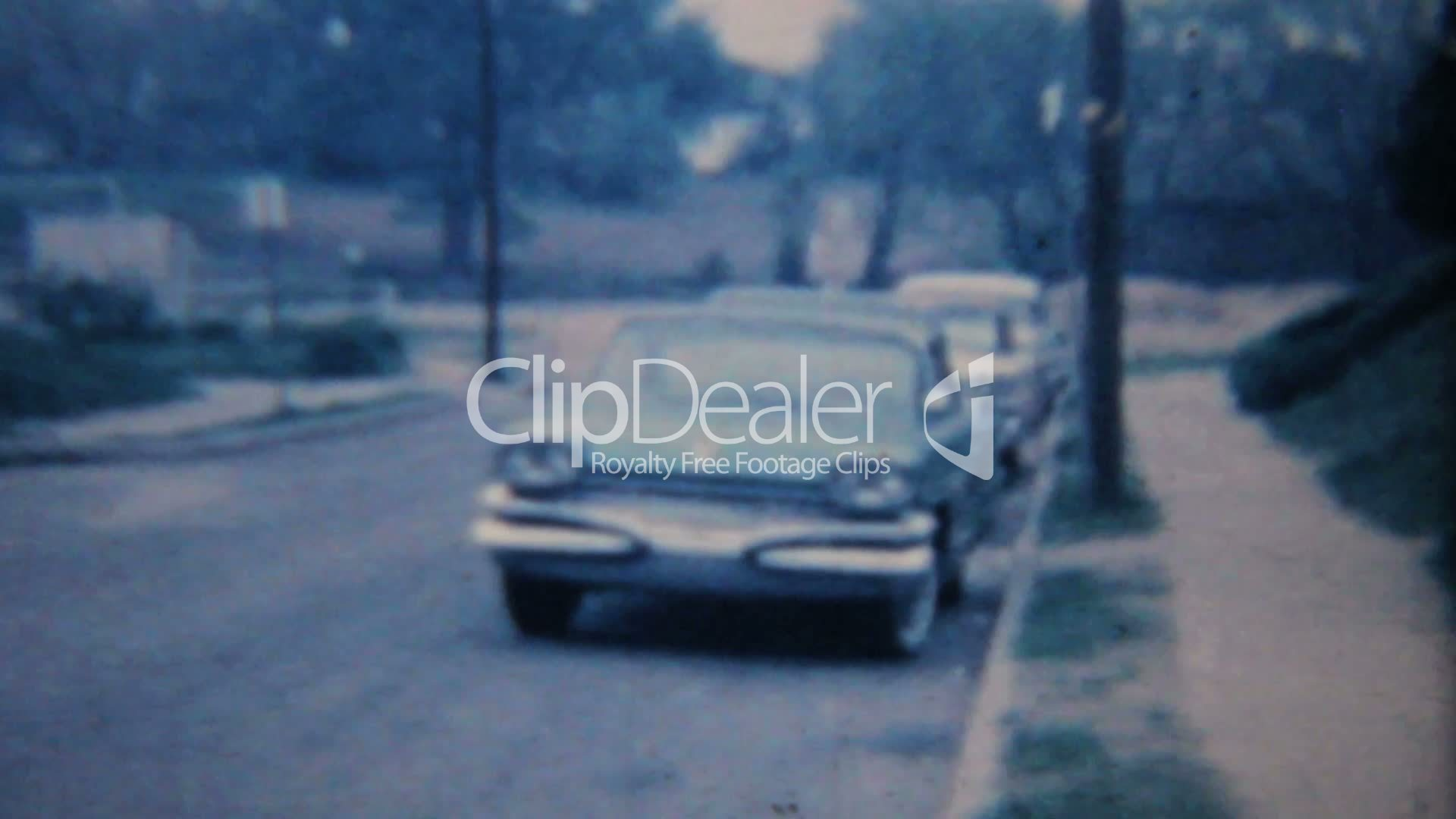 Old Car-1964 Vintage 8mm film: Royalty-free video and stock footage