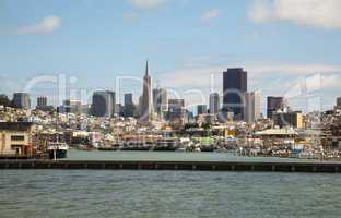 Downtown of San Francisco as seen from the bay
