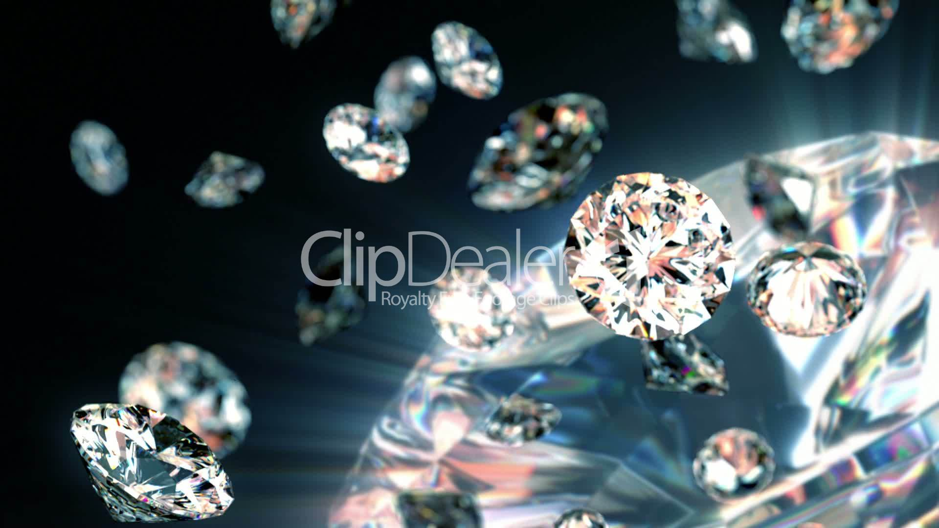 falling stock and diamonds media royalty free video footage slowly diamond