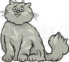 persian cat cartoon illustration