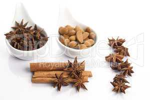 cinnamon, star anise and almond
