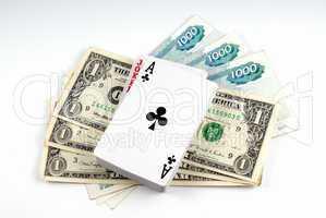 Three denominations on one dollar and three denominations on one