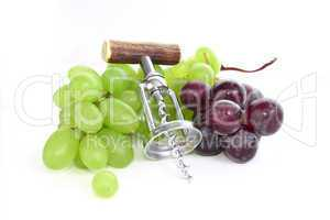 grapes with corkscrew