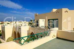 Villa decoration at the luxury hotel, Hurghada, Egypt