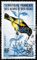 Postage stamp Afars and Issas 1975 Variable Sunbird, Bird