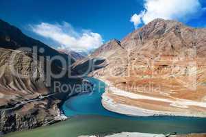Zanskar and Indus rivers