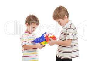 Children in conflict fight for toy