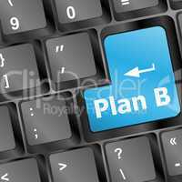 Big blue button keypad Plan B