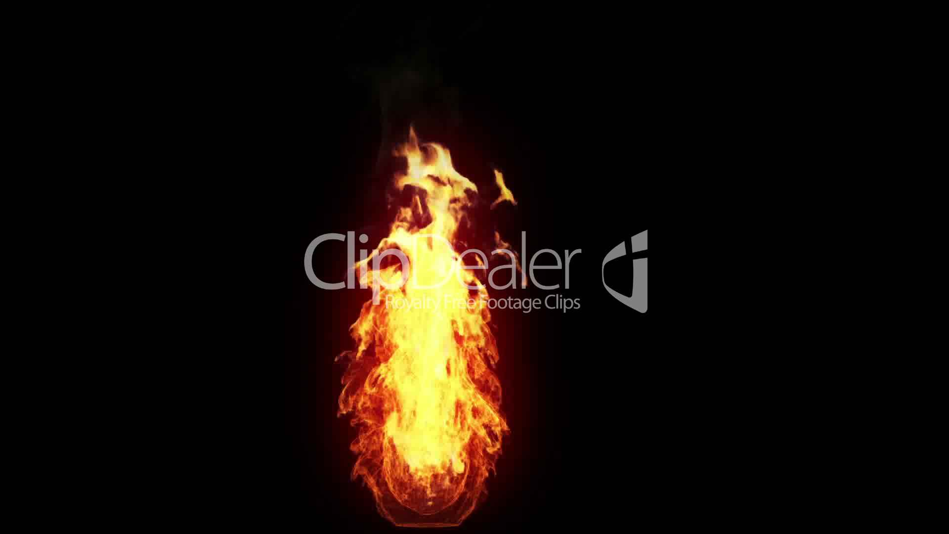 Burning Torch Alpha Royalty Free Video And Stock Footage
