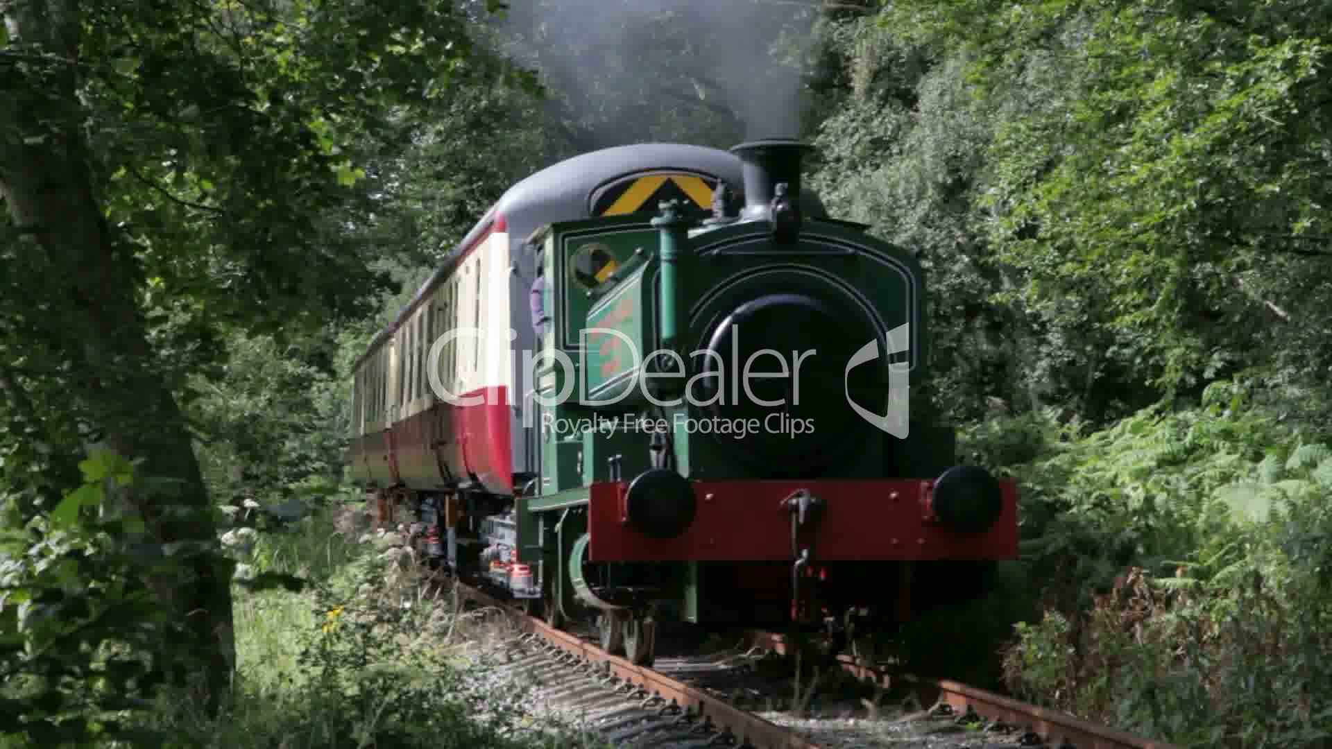 Steam train on the Royal Deeside Railway near Banchory, Scotland.: Royalty-free video and stock ...