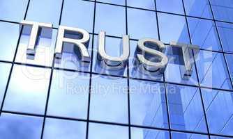 Bank Konzept Blau - Trust