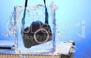 Kamera im Wasserglas