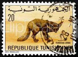 Postage stamp Tunisia 1968 Desert Fox, Vulpes Zerda