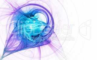 Cosmic Plasma Flow Lines Blue Purple