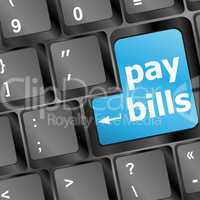 Pay bills key in place of enter key
