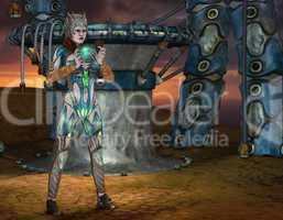 Krieger Prinzessin mit magischen Element