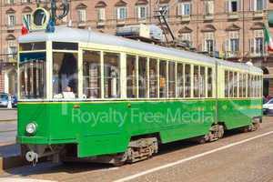 Old tram in Turin