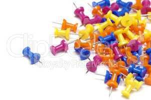 colourful softboard pins
