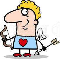 valentine man in cupid costume cartoon