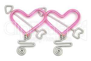 Unusual heart shaped wire with arro