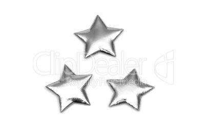3 padded Silver stars