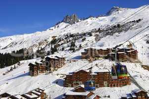 Skir resort Meribel-Mottaret, Franc