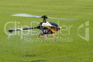 Model helicopter hovering