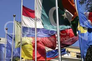 Sea of international flags