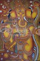 Kerala mural painting of Lord Ganes