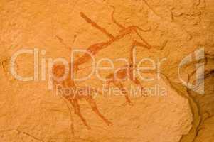 Prehistoric rock paintings