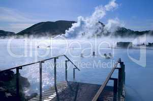 Thermal springs blue lagoon Reykjav