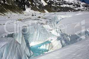 Crevasse Glacier Mer de Glace Haute