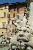 Water fountain at Piazza della Roto
