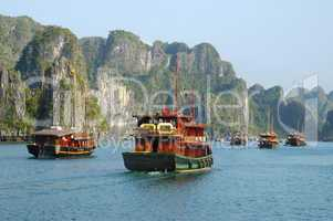 Fleet of junk boats