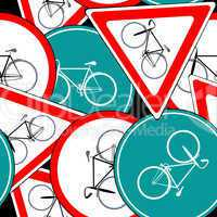 bike traffic signs pattern