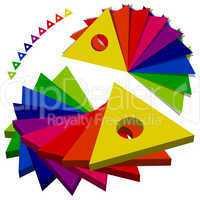 color triangles palette