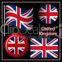england graphic set