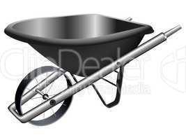 metallic wheel barrow