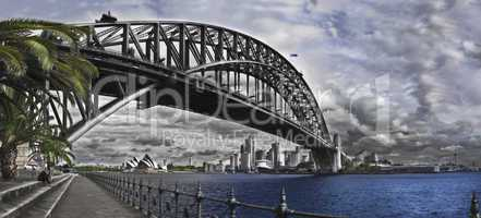 Sydney Harbour Bridge and Opera House.