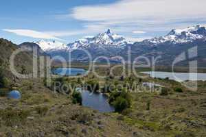 Lakes and Andes from Estancia Cristina
